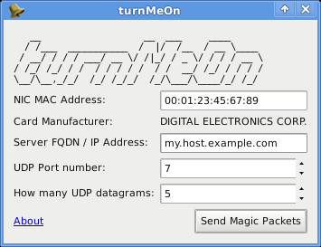 turnMeOn on Linux